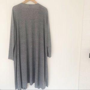 LuLaRoe Sweaters - LuLaRoe Sarah Cardigan Solid Gray w/ Pockets XL